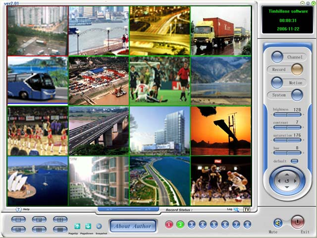 Interfaced for Camera Management software