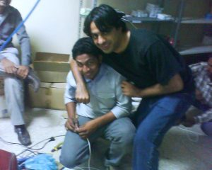 farooq , zohaib , setting up the ip cameras
