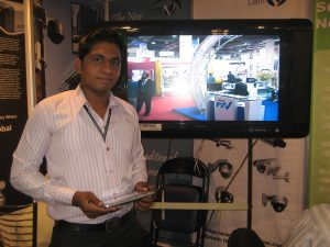 zohaib aleem , displaying cctv products for sale
