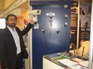 ghulam murtaza displaying the products