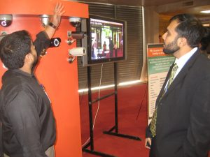 faisal akber displaying cctv products in pakistan , ip camera products